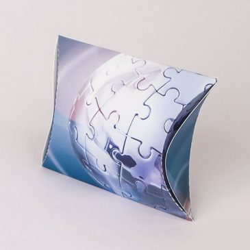 "Pillow box ""Puzzle globus"""