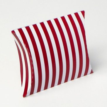 "Pillow box ""Bordo pruge"""